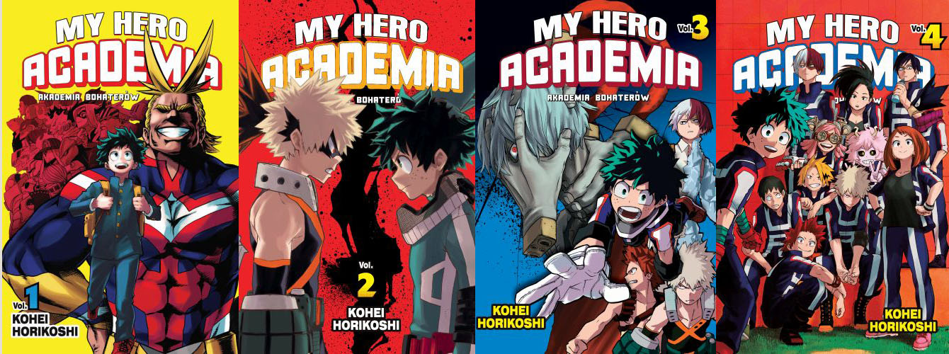 My hero Academia tom 1-4 – recenzja